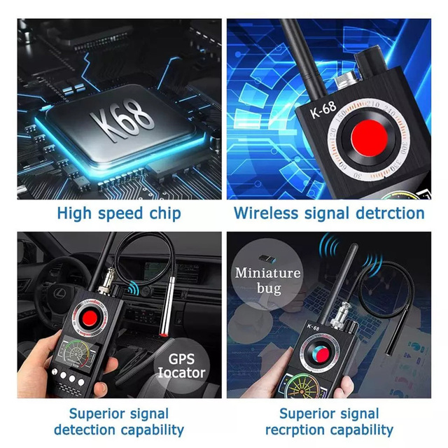 K18 Multi-Function Anti Detector Bug Detector Signal Camera Detector BUG Spy Detector RF Tracker GPS Locator Wireless Device 4