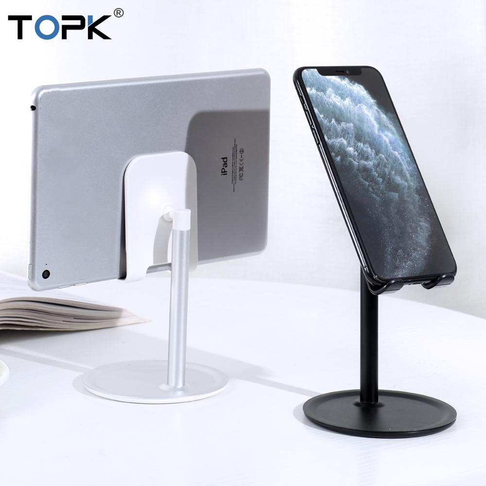 TOPK Universal Desk Tablet Phone Holder For All Phone Table Aluminum Adjustable Desktop Tablet Stand Mount