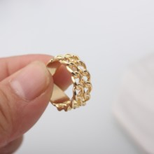 Hi Quality Punk Anillo Wholesale Men Bijoux Fashion Lovely Infinity Double Layer Ring