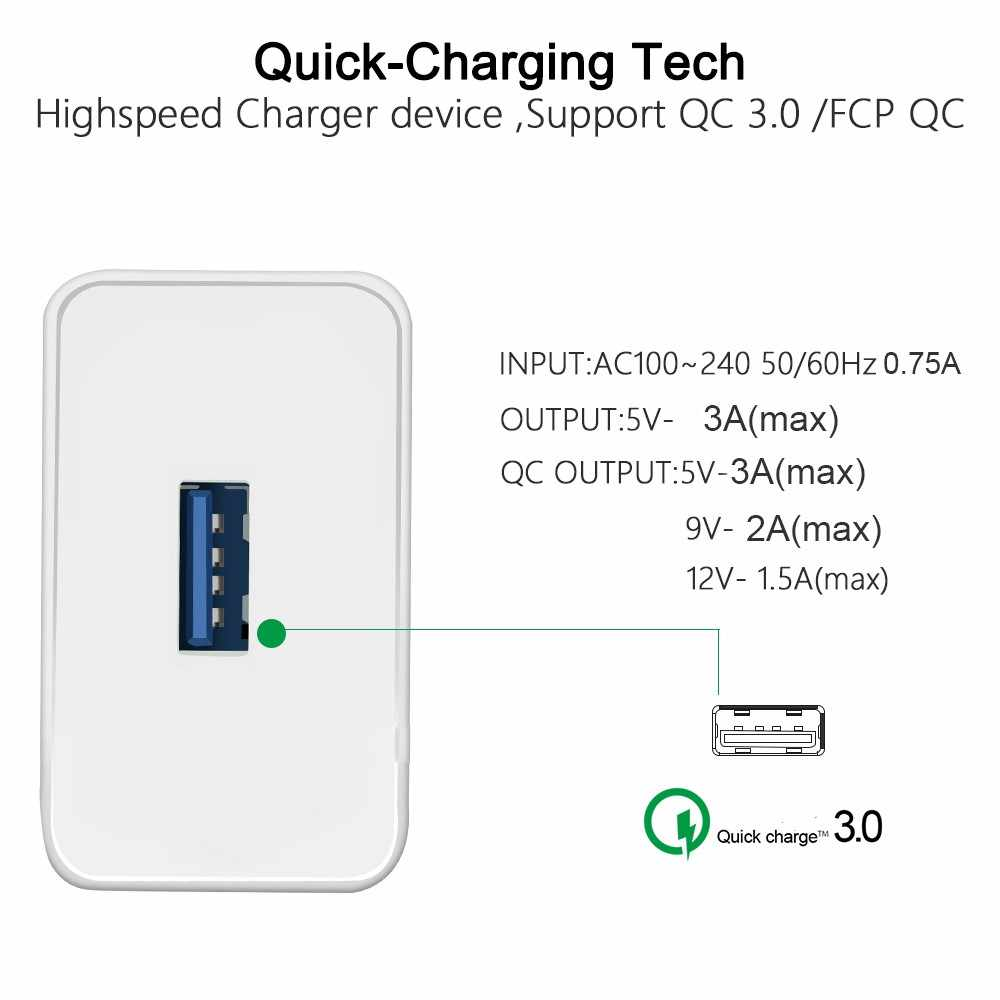 Carga rápida QC 3,0 4,0 Smart rápido de viaje cargador de pared para Xiaomi Samsung Huawei rápido de carga de adaptador USB para teléfono
