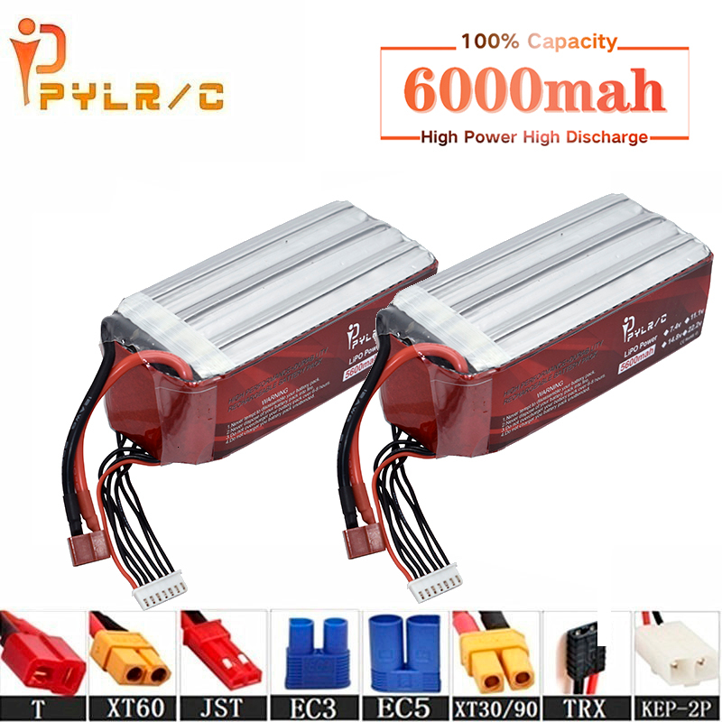 High Rate 22.2v 6000mAh Lipo Battery For RC Helicopter Parts 6s Lithium battery 22.2v 50C RC Cars Airplanes Drone Battery T/XT60(China)