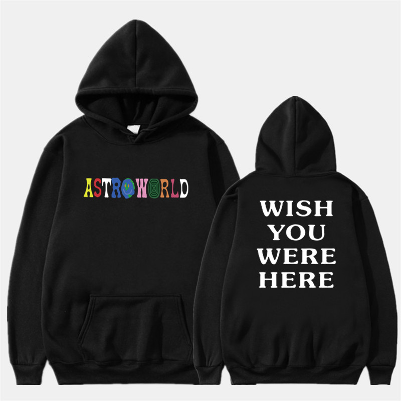 2019 New Men Hoodies Travis Scott Astroworld WISH YOU WERE HERE Sweatshirt Men Fashion Letter Print Hoodie Men/woman Pullover