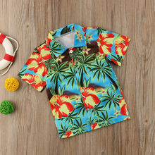 Children Boys Shirts 2019 Summer Kids Baby Shirt For Boy Short Sleeve Tops Child Printed Clothes Toddler boy blouse