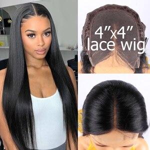 Image 4 - ישר תחרה מול פאה מראש קטף שיער טבעי פאות צבע טבעי 4x4 5x5 6x6 7x7 סגירת פאה בתפזורת מכירה רמי Jarin שיער