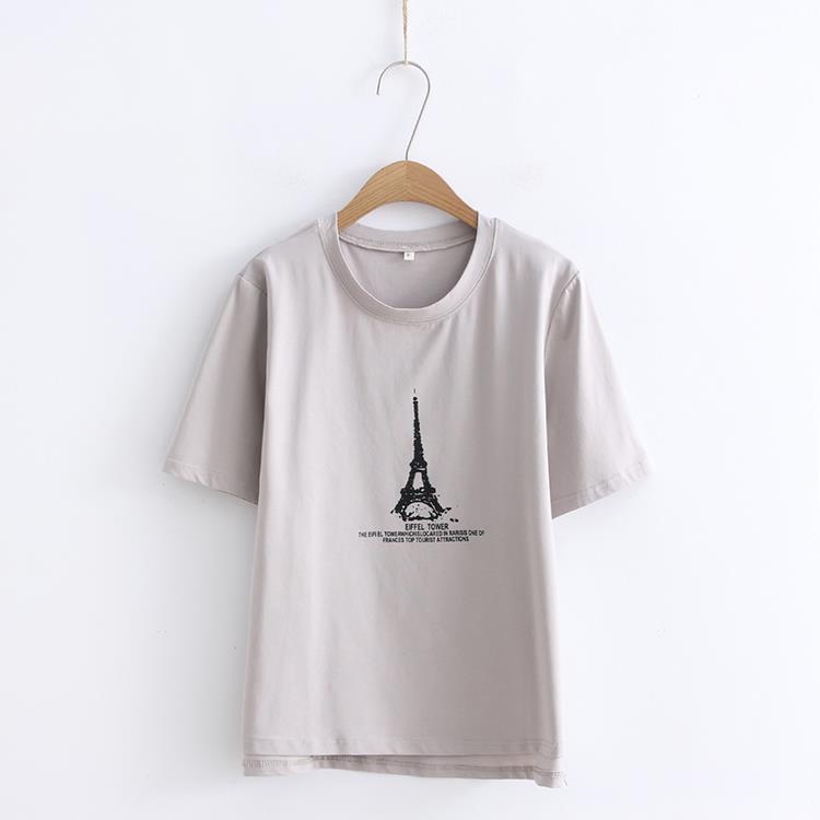 2018 Fashion women  T-shirt Printesd Funny T Shirt Women Loose Summer Top T-shirt