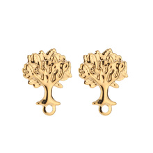 Stainless-Steel Jewelry Diy with Hole for Earring Making-Findings 10pcs/Lot Tree-Of-Life