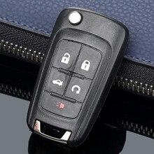 Remote Key Shell Case 5 Knoppen Flip Vouwen Voor Buick Lacrosse Regal Verano Auto Alarm Sleutel Vervanging Keyless Fob Cover
