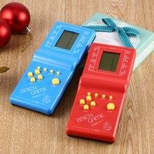 Juego electrónico LCD de mano Tetris clásico, juguete divertido, juego de ladrillos, consola de juegos portátil, color al azar, triangulación de envío, gran oferta