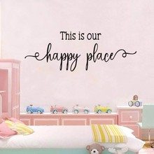 bless this home and all who enter quote wall sticker dinning room bedroom god religion pray quote wall decal vinyl home decor This is our happy place Wall Stickers Quote For Kids Room Decor Sticker Vinyl Wall Art Decals Child Bedroom Wallpaper Home Decal