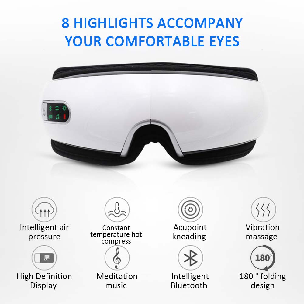 Smart Eye Massager Anti Wrinkles Eyes Massage Glasses For Tired Eyes Air Compression Heated Goggles Dark Circles Remove Eyewear