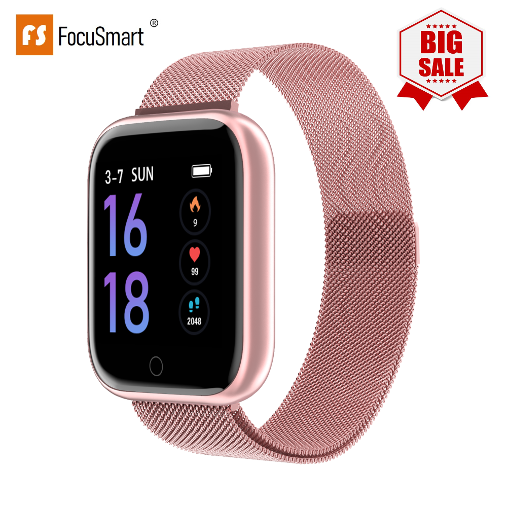 FocuSmart watch Women Men T80 PK B57 F10 IWO Activity Fitness Tracker Heart Rate <font><b>Smartwatch</b></font> for ios andriod VS P68 <font><b>P70</b></font> Bracelet image