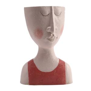 Art Portrait Flower Pot Vase S