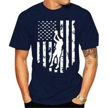 2021 lazer moda 100% algodão o-pescoço camiseta eua bandeira americana basquetecesta jérsei presente