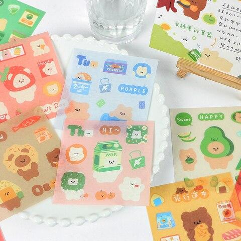 12 pacotes lote cem ursos serie album de fotos decoracao selo de papel diy masking