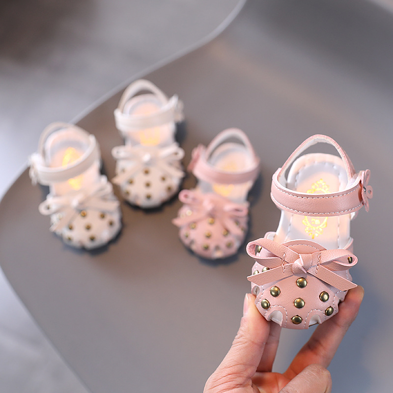 Summer Newborn Baby Girls Sandals Soft Baby First Walkers Sale Pu Leather Baby Clogs Baby Girl Shoes Sandals