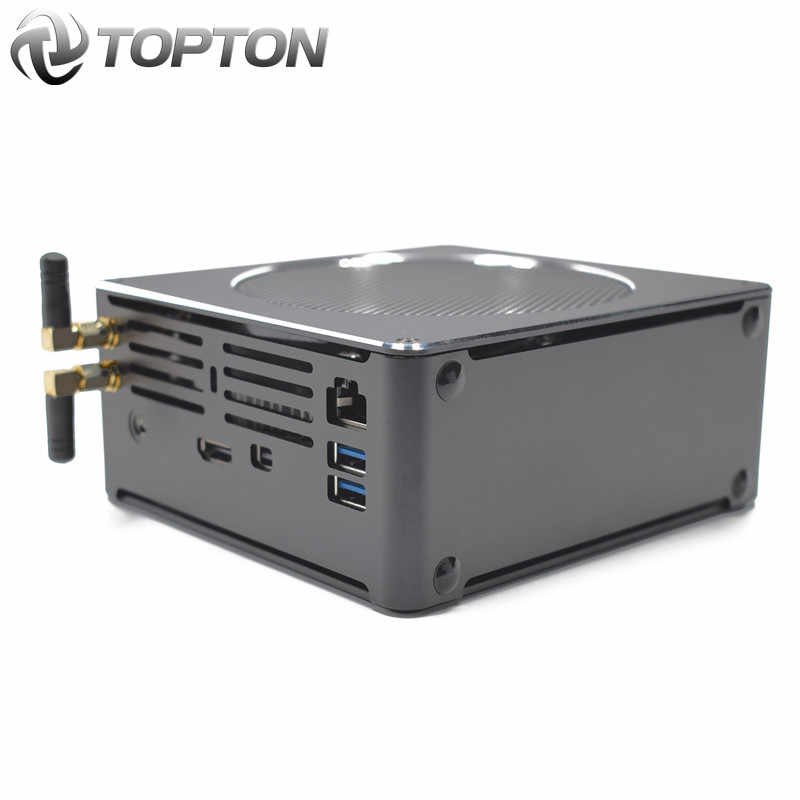 Topton mini computador intel i9 i7 8850h i7 8750h 6 núcleo 12 threads 9m cache nvme m.2 nuc gaming desktop pc win10 pro hdmi ac wifi