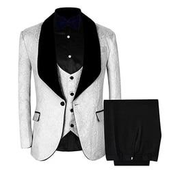 3 Piece Mens Blazer, Wedding Suit, Slim Fit  Jacket + Grooms Office Jacket Party Suits, Korean Mens Pants Suit 3XL Vest