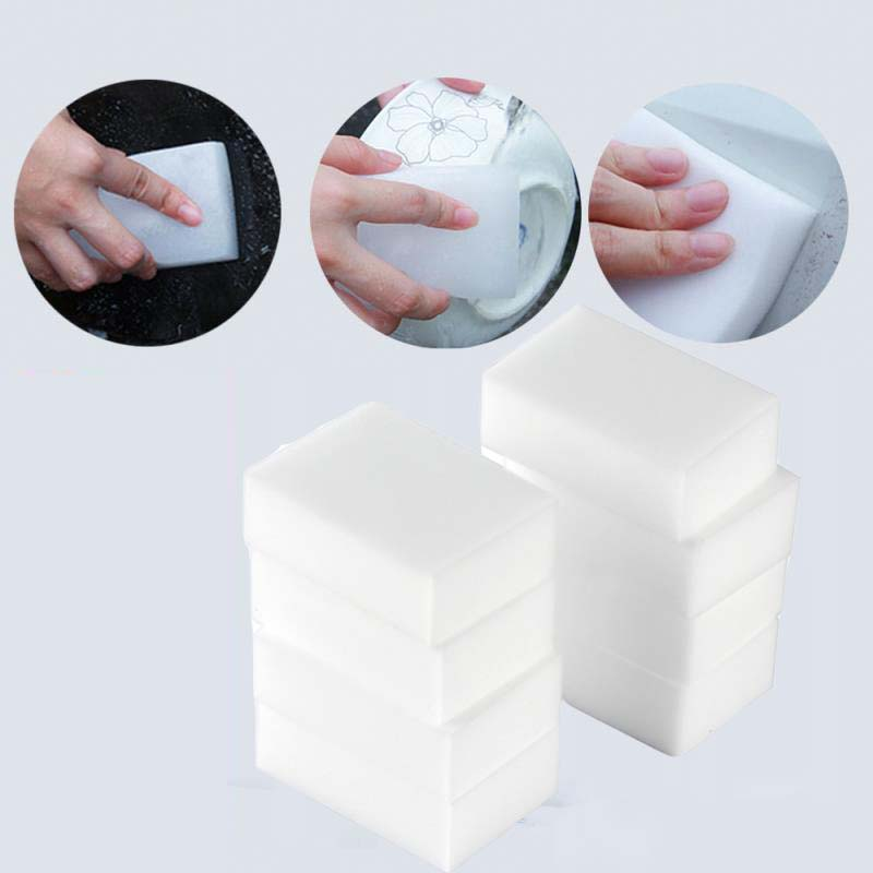 50/100 pçs esponja de melamina borracha esponja limpador limpeza esponja mágica para cozinha banheiro ferramentas de limpeza 100*60*20mm
