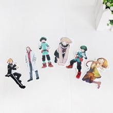 73 pièces Anime mon héros académique autocollants ensemble personnalité valise Skateboard autocollants décoratifs cadeau mon héros académique Figure jouets