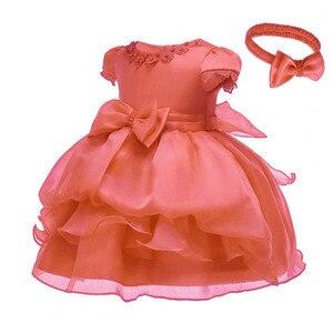 Крестильное кружевное платье для новорожденных девочек; Белая праздничная одежда для первого дня рождения; Платье для малышей; Платье на кр...