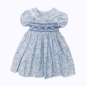 Image 3 - สาวเล็กๆน้อยๆ summer2020 เด็กสาว smocked ชุดสำหรับงานแต่งงาน Elegant Smocking ชุดเดรสสำหรับสาว sukienki