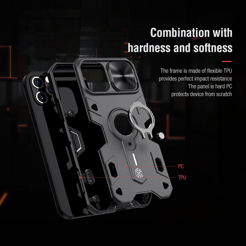 iPhone 12 Pro Max Case for iPhone 12 Mini Case with Ring stand Case Camera Protection Slide cover 4