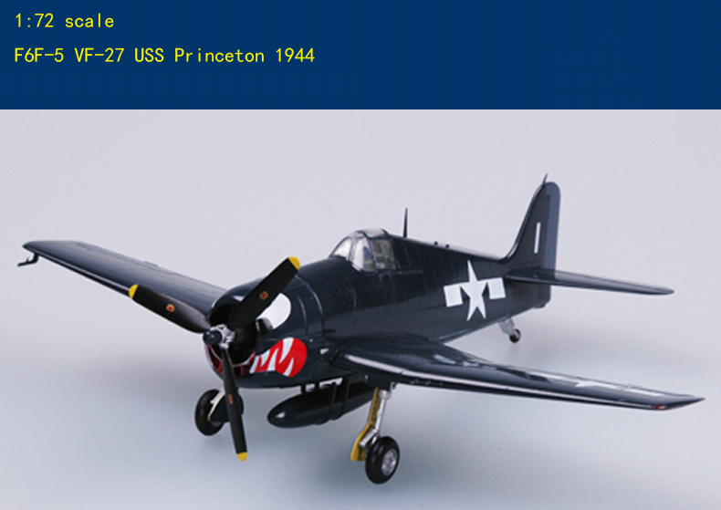 1/72 Scale F6F-5 (Hellcat) Fighter Finished Model Collection Airplane Model
