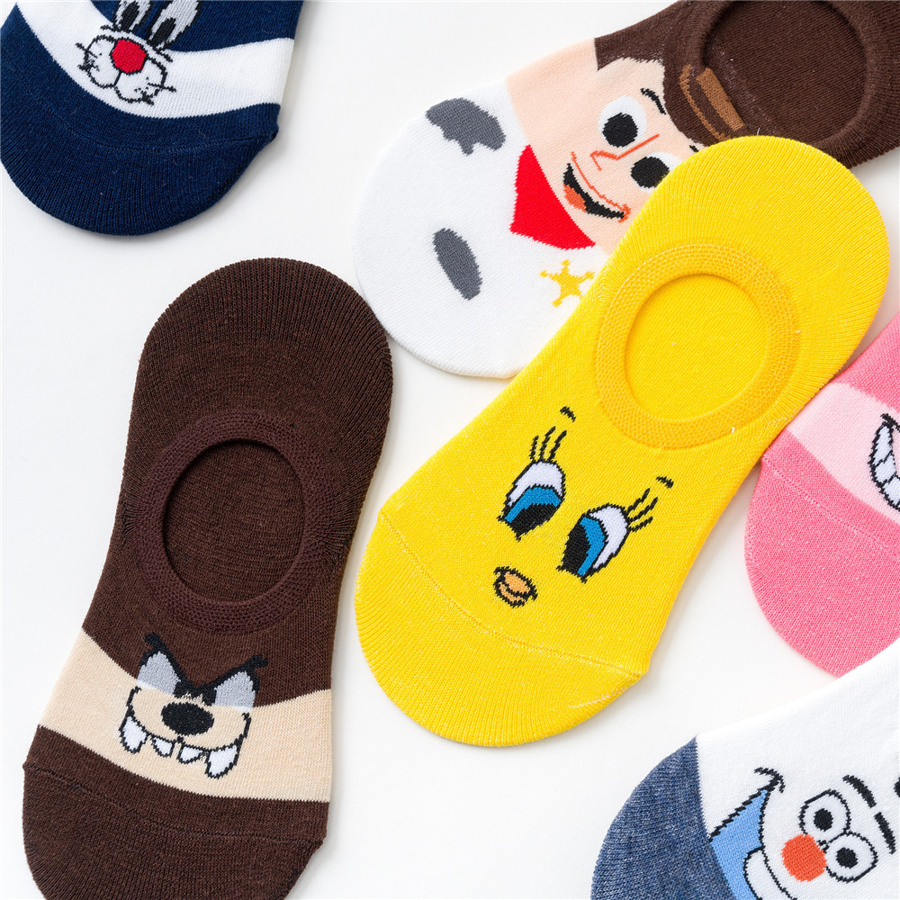 Boat Socks Creative Casual Cotton Funny Animals Socks For Female Cute Girls New Summer Cartoon Cotton Thin Women