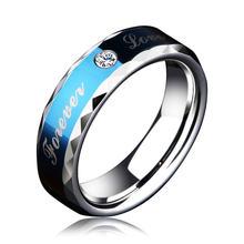 Обручальное кольцо fdlk forever love blue для пары подарки на