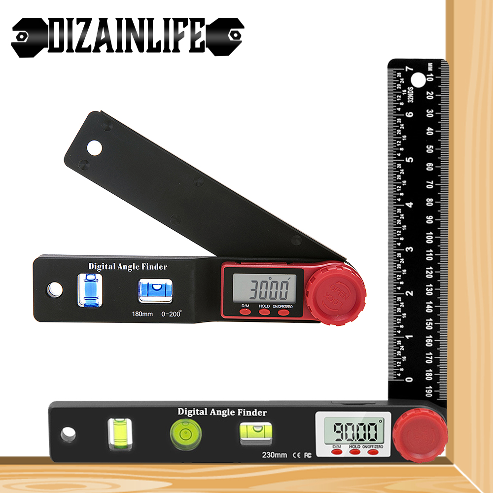Digital Protractor Inclinometer Angle Ruler Finder Goniometer Electronic Protractor Woodworking Level Ruler Angle Scale Detector