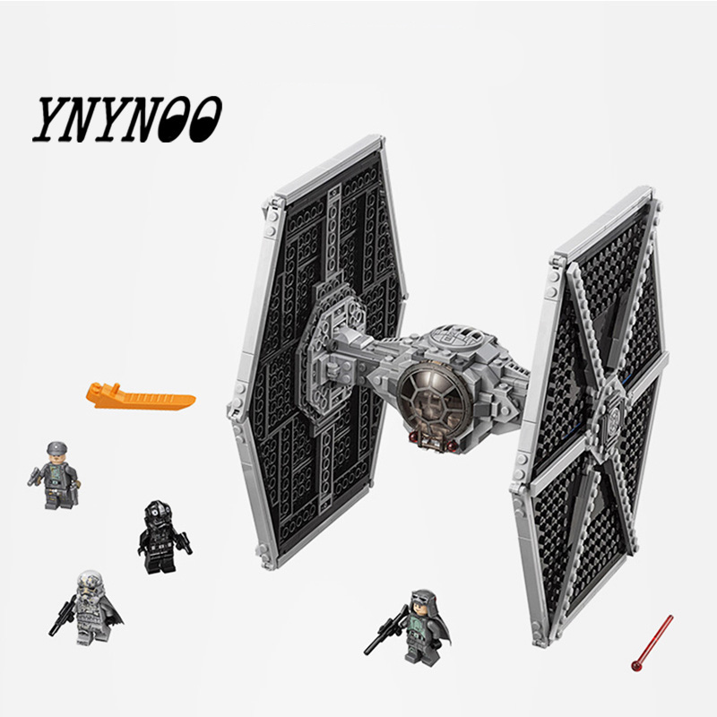 Lepining Star Wars Imperial TIE Fighter Costruzioni Models Building Blocks Toys For Children With Star Wars 10900 75211
