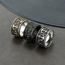 Винтажные кольца с якорем из нержавеющей стали 316l для мотоцикла