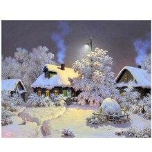 Snow Night40x50cm,Painting By Numbers,DIY,wall Art,Living Room Decoration,Scenery,Figure,Animal,Flower,Cartoon