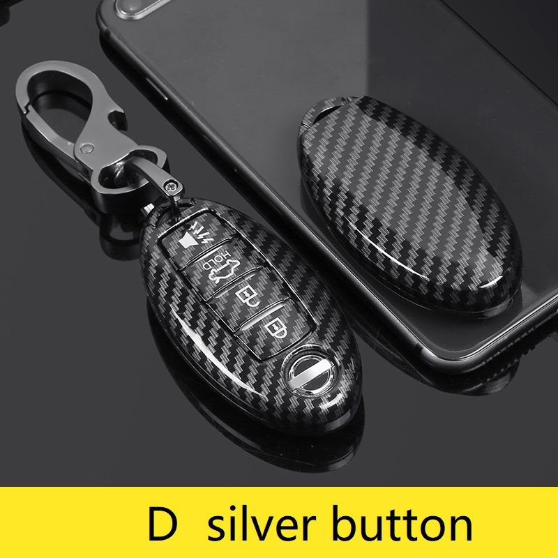 Carbon ABS Car Key Case For Nissan Versa Maxima Altima Rogue Armada Sentra Murano Infiniti FX35 QX60 Remote Cover Keys Bag