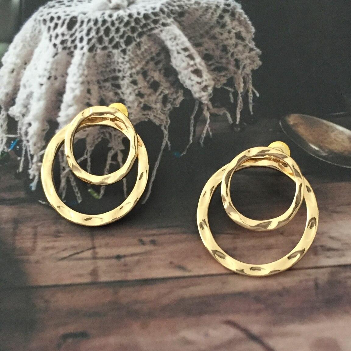 Brinco Dourado Duplo