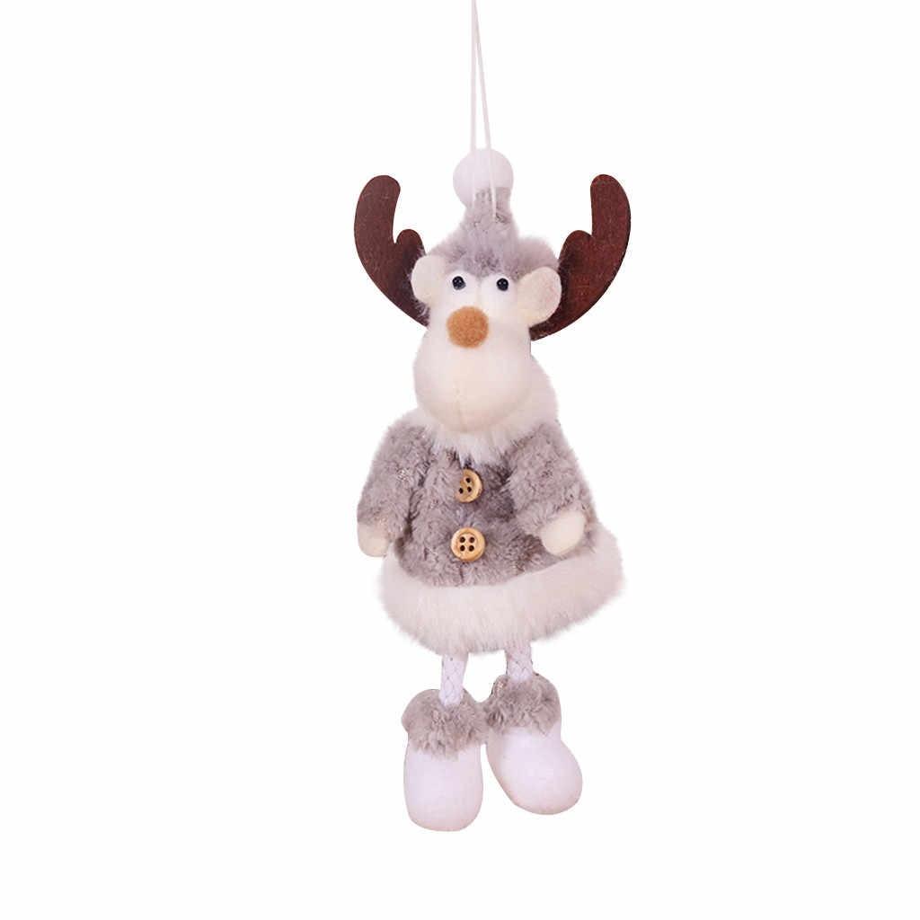 Świąteczne pluszowe anioły Old Man ełk wisiorek w kształcie bałwana dziecko urocza lalka dla domu święty mikołaj wesołych dekoracje na przyjęcie świąteczne