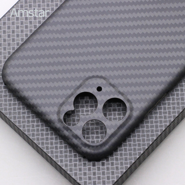 Amstar Pure Carbon Fiber Lens Protection Phone Case for iPhone 12 11 Pro Max 12 Mini Ultra Thin Carbon Fiber Hard Cover Cases 5