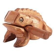Miniaturas de rana de la suerte de madera, instrumentos de artesanía tradicional tailandesa, figuritas de arte para el hogar, regalo decorativo en miniatura