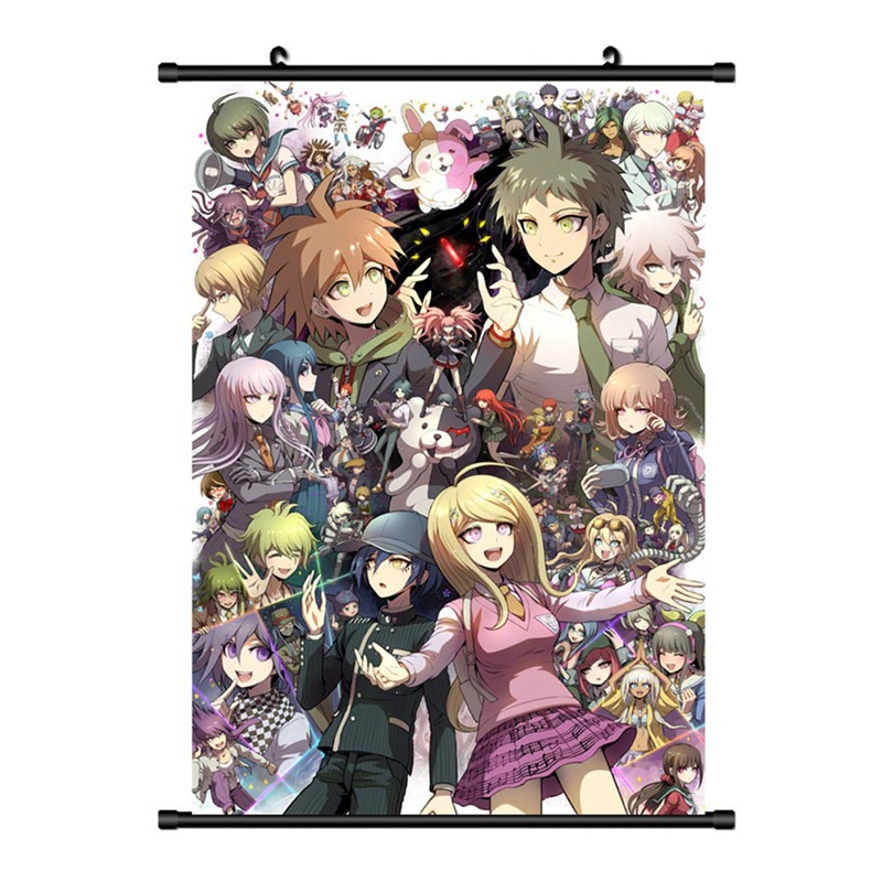 Danganronpa V3: Killing Harmony Scroll Poster Japanese Game Wall Hanging Waterproof Canvas Poster Home Art Decoration 20X30cm