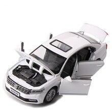 1/32 escala simulação volkswagen passat, carro clássico, liga, modelo de fundição, som e luz, puxar para trás, carro de brinquedo, crianças brinquedos, brinquedos