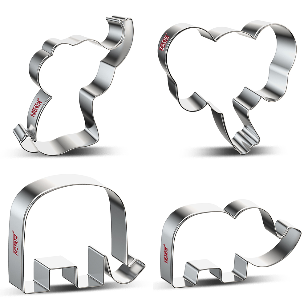 ZADE Cute Elephant Cookie Cutter Biscuit And Fondant Cutter - Stainless Steel