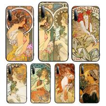Hot Art ALPHONSE MUCHA Soft Silicone Phone Case For honor 8a 5 7 10i 9 10 20 30 v 7 9 honorview pro Cover Fundas Coque