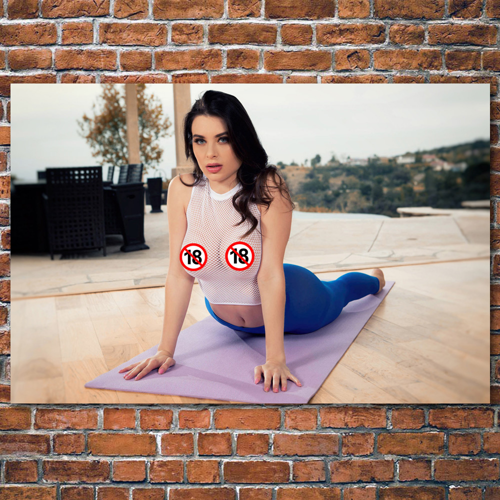 Adult Model Beauty Lana Rhoades Girl sexy Women Yoga Photo Wall Art Poster and Prints Canvas Art Painting For Room Decor 1
