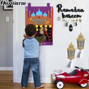Image 1 - 2020 ใหม่ล่าสุด Eid Mubarak 30 Days Advent ปฏิทินแขวน Felt นับถอยหลังปฏิทินสำหรับเด็กของขวัญ Ramadan PARTY อุปกรณ์ตกแต่ง