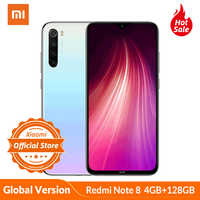 Version mondiale Xiaomi Redmi Note 8 4 go 128 go Smartphone 48MP Quad caméra Snapdragon 665 Octa Core 4000mAH 6.3 ''affichage goutte à point