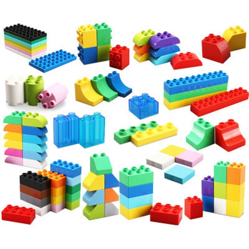 8pcs Big Size Duploe Building Blocks Bricks Accessory Compatible With Duplos Base Plate Transparent Square Toy For Children Gift