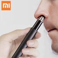 Xiaomi-Mini recortador de pelo nasal eléctrico portátil, afeitadora de pelo de nariz lavable extraíble, Mini herramienta de uso diario familiar