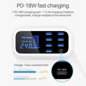 Image 4 - Быстрое зарядное устройство типа C USB 18 Вт PD зарядное устройство для iPhone 12 Быстрая зарядка концентратор для iPhone Android адаптер USB C зарядное устройство для телефона