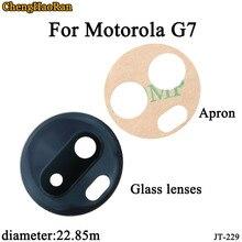 ChengHaoRan 2 шт./лот 22,85 мм Задняя камера Стекло Объектив для Motorola Moto G7 с клейкой наклейкой