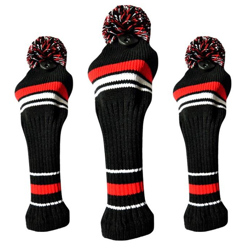 3Pcs Golf Clubs Wood Head Covers Golf Clubs Set Golf Knitting Golf Headcover